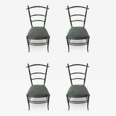 Four French Paper Mache Chairs