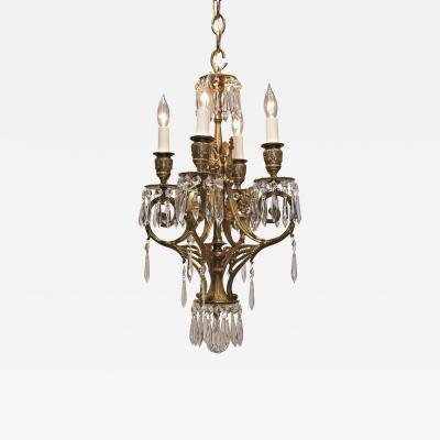 Four Light Rococo Revival Chandelier Circa 1880