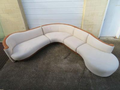 Four Piece Curved Serpentine Sectional Sofa Weiman