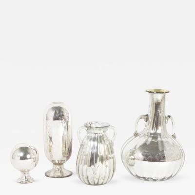 Four Pieces of Mercury Glass Priced Individually