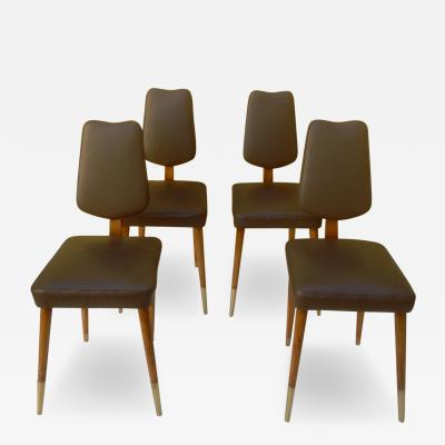 Four Stunning Italian 1950s Dining Chairs