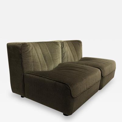 Four french 1960s modular sofa elements