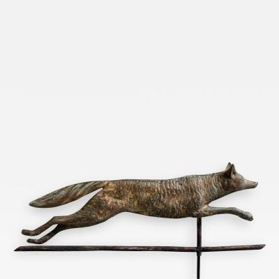 Fox Weathervane Cushing and White circa 1880