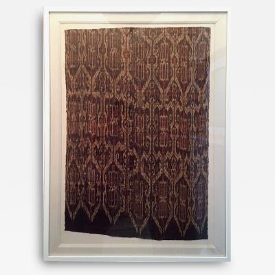 Framed Antique Asian Woven Ikat Textile Tnalak