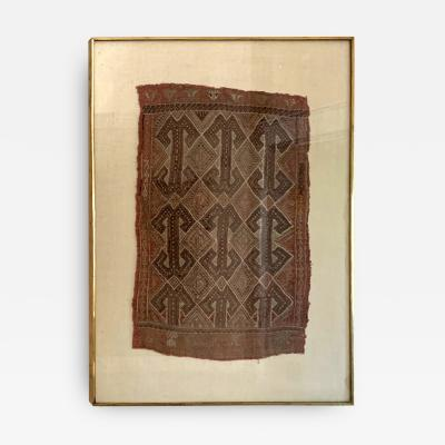 Framed Antique Tribal Textile fragment