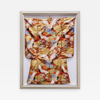Framed Japanese Wedding Kimono