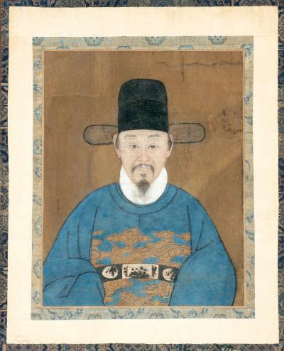 Framed Korean Official Portrait Joseon Dynasty