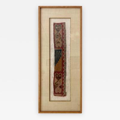 Framed Pre Columbian Textile Fragment