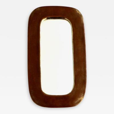 Fran ois Lembo Francois Lembo Gilded Glazed French Ceramic Mirror