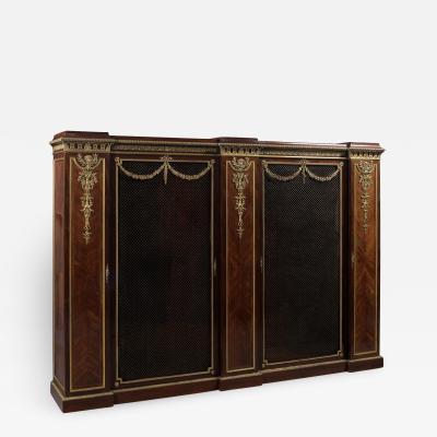 Fran ois Linke A Fine Mahogany and Satine Bookcase