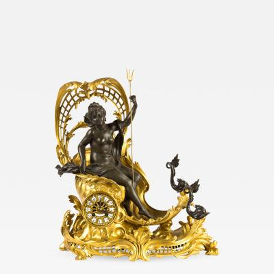 Fran ois Linke A Fine Quality Gilt Bronze Mantel Clock Depicting Amphitrites Chariot Drawn