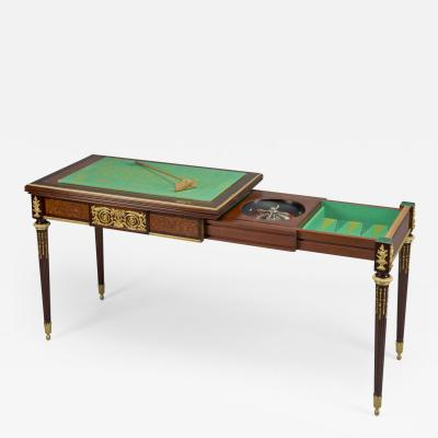Fran ois Linke A Louis XVI Style Parquetry Inlaid Games Table