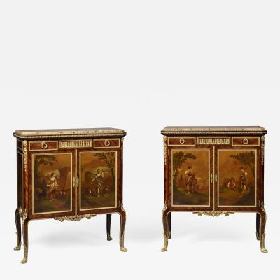 Fran ois Linke A Pair Of Louis XVI Style Side Cabinets