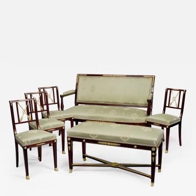 Fran ois Linke A Rare Mahogany Empire Revival Salon Suite