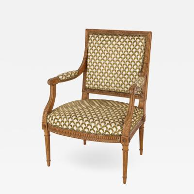 Fran ois Linke Antique silk upholstered beech wood armchair by Linke