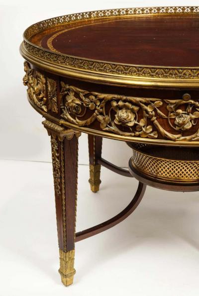 Fran ois Linke Exceptional Quality French Ormolu Mounted Mahogany Center Table Attrib F Linke