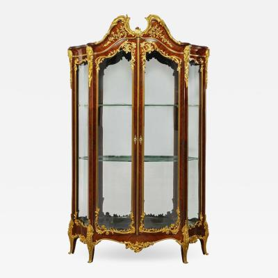 Fran ois Linke Francois Linke a Large and Fine Gilt Bronze Mounted Kingwood Grand Vitrine
