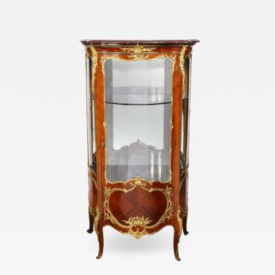 Fran ois Linke Francois Linke an Exceptional French Ormolu Mounted Kingwood Vitrine Cabinet