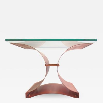 Fran ois Monnet Aged Copper and Glass Side or Coffee Table by Francois Monnet