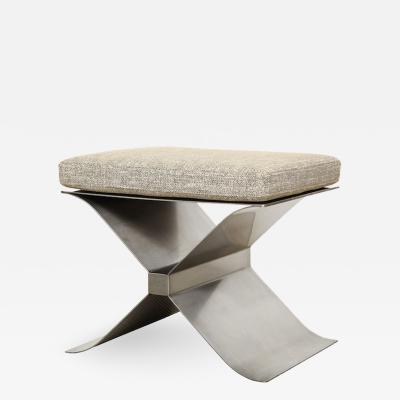 Fran ois Monnet STAINLESS STEEL X STOOL BY FRANCOIS MONNET FOR KAPPA