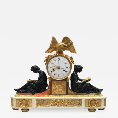 Fran ois R mond L Etude et La Philosophie Louis XVI Ormolu Mantel Clock