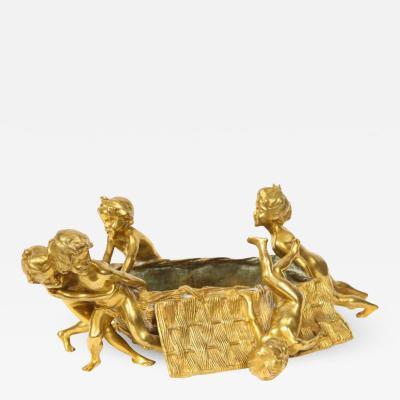 Fran ois Raoul Larche Francois Raoul Larche a French Gilt Bronze Table Centerpiece