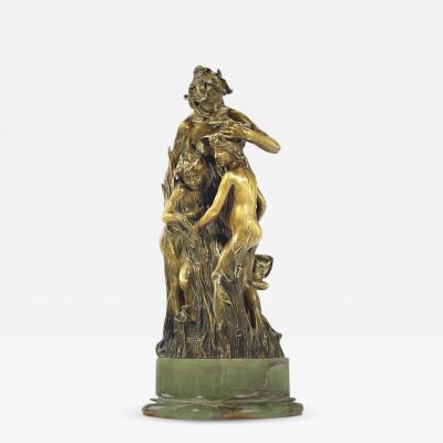 Fran ois Raoul Larche Les violettes A Gilt Bronze Sculpture