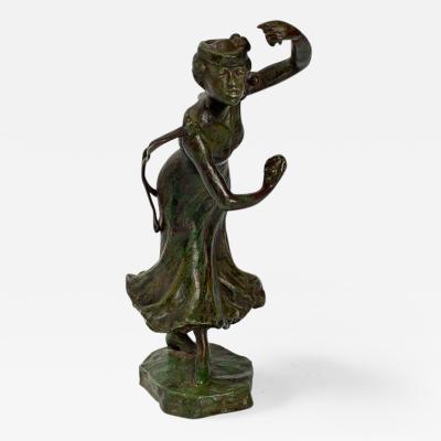 Fran ois Rupert Carabin Bronze Figural Castanets Dancer