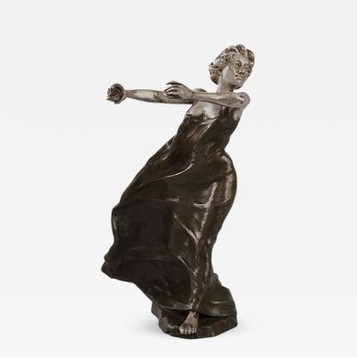 Fran ois Rupert Carabin French Art Nouveau Bronze Sculpture by Carabin