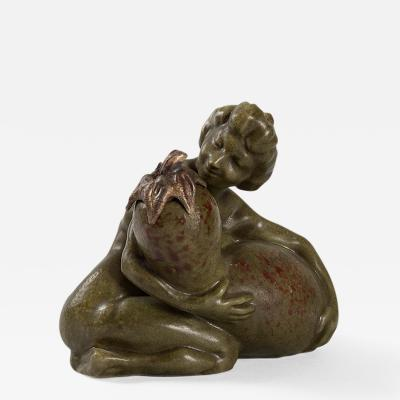 Fran ois Rupert Carabin French Art Nouveau Ceramic Inkwell by Carabin