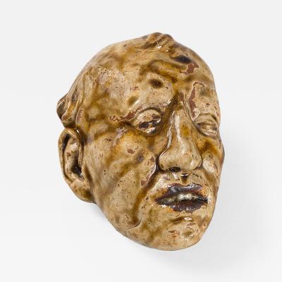 Fran ois Rupert Carabin Stoneware Mask by Rupert Carabin