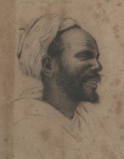 Fran ois de H rain Portrait of an Oriental Man with Turban Etching