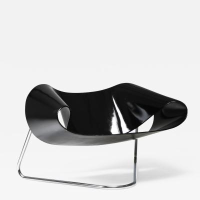 Franca Stagi Black Ribbon chair by Franca Stagi for Bernini 1961