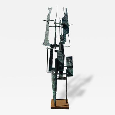 Frances Anderson Brutalist Metal Sculpture by Frances Anderson