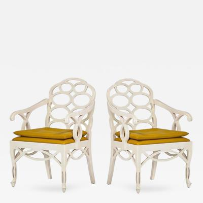 Frances Elkins Pair of Loop Chairs by Frances Elkins