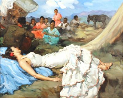 Francesco Clemente Francisco Rodriguez san Clemente Oil Painting