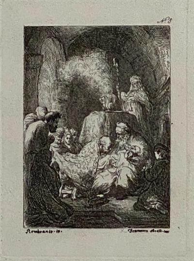 Francesco Novelli Rembrandt Etching 8 by Francesco Novelli