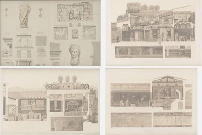 Francesco Piranesi A Set of 4 Architectural Engravings Manner of Piranesi