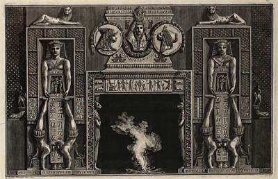Francesco Piranesi Fireplace Surround 3 Piranesi Engraving Italy Circa 1760