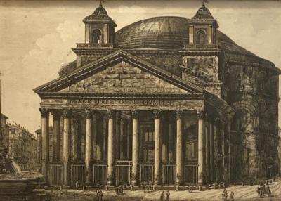 Francesco Piranesi Piranesi Etching of the Pantheon Circa 18th Century