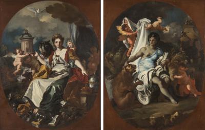 Francesco Solimena Pair of Francesco Solimena Paintings