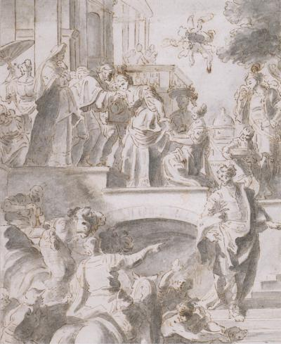 Francesco Solimena Rachel Bidding Farewell to her Father before her Marriage to Isaac