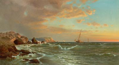 Francis Augustus Silva Sailing at Twilight