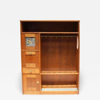 Francis Jourdain A Rare Entryway Coat Umbrella Storage Cabinet by Francis Jourdain