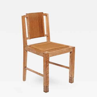 Francis Jourdain Cerused Oak Chairs with Rope detail Set of Six