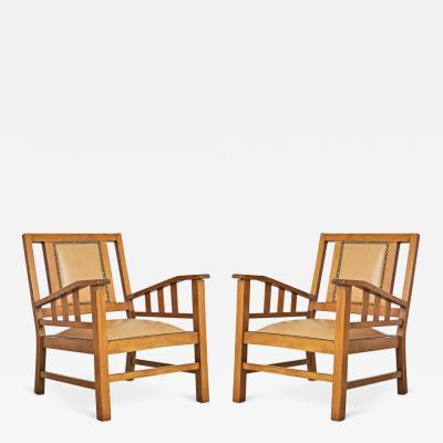 Francis Jourdain Francis Jourdain French Art Deco Modernist Pair of Armchairs circa 1920
