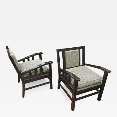 Francis Jourdain Francis Jourdain Pair of Modernist Lounge Chairs