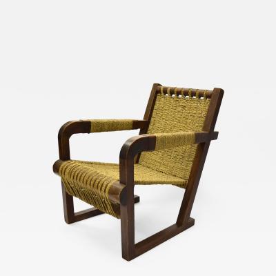 Francis Jourdain Lounge Chair by Francis Jourdain France C 1935