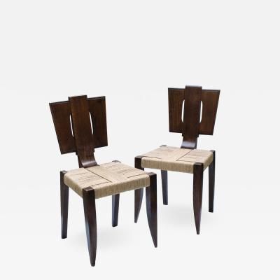 Francis Jourdain Pair of Modernist Chairs 1920s