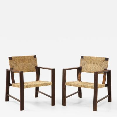 Francis Jourdain Pair of Rope Armchairs France c 1925